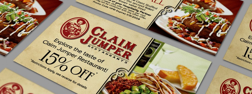 Claim Jumper Incentive Cards